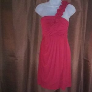 Blood red/maroon one strap top dress